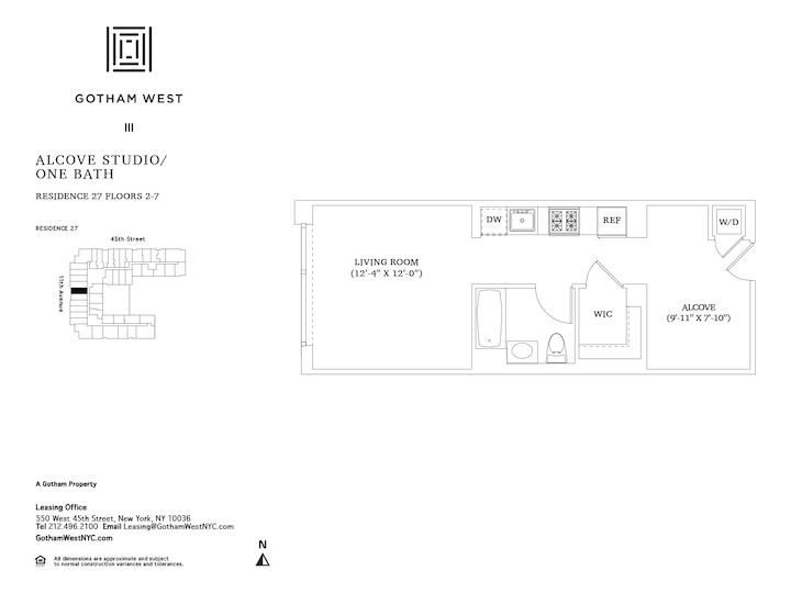 Gotham West #627 Floorplan