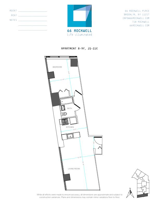 Floor plan for 16E