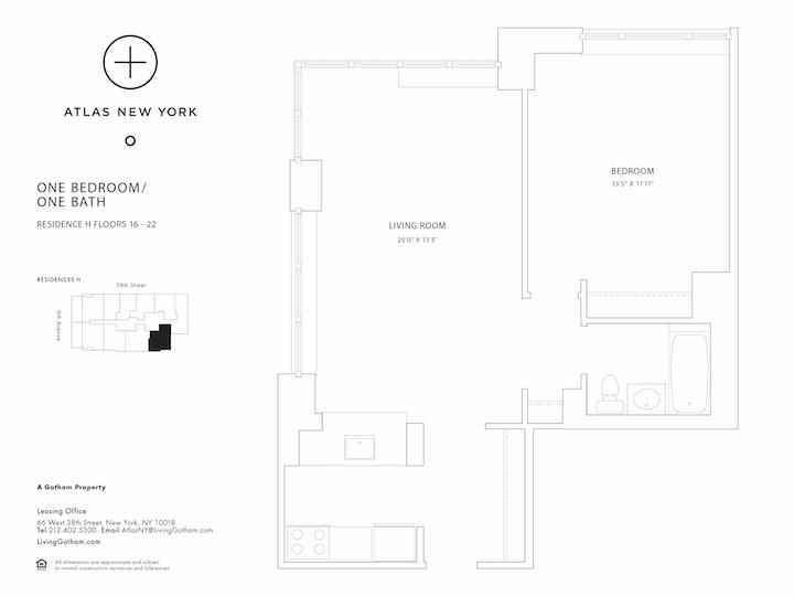 Atlas New York #18H Floorplan
