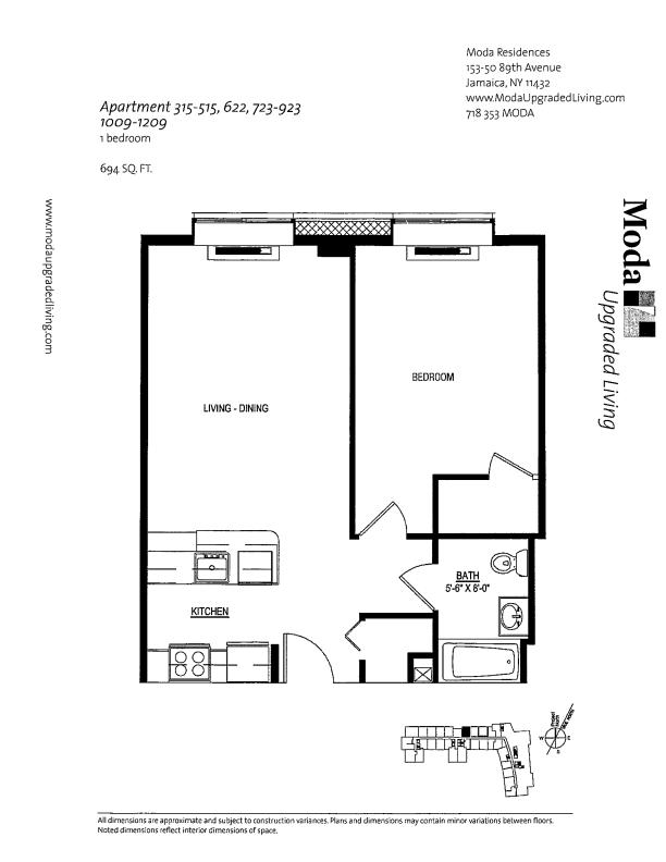 Floor plan for 215