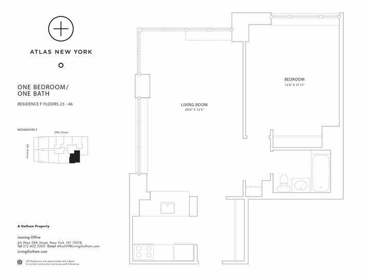 Atlas New York #24F Floorplan