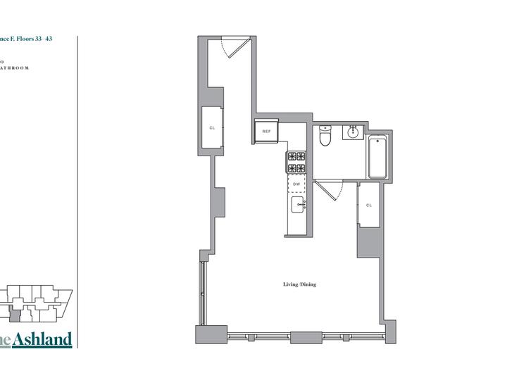 The Ashland #39F Floorplan