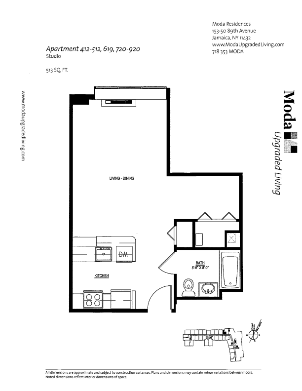 Floor plan for 512