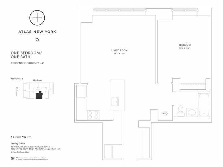 Atlas New York #26E Floorplan