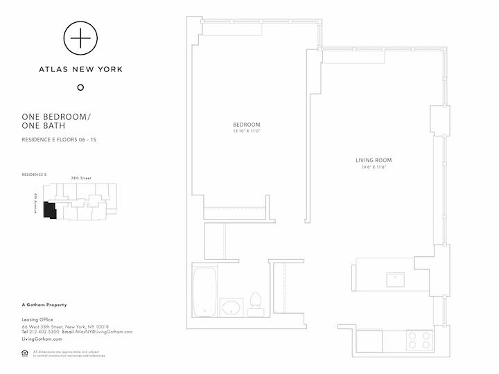 Atlas New York #15E Floorplan