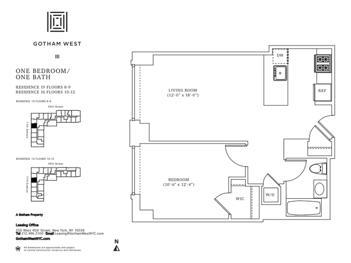 Gotham West #819 Floorplan