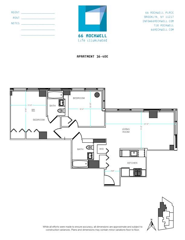 Floor plan for 36E