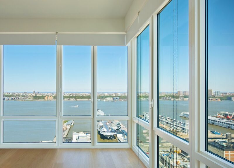 Gotham West: 2107 a view of a large window