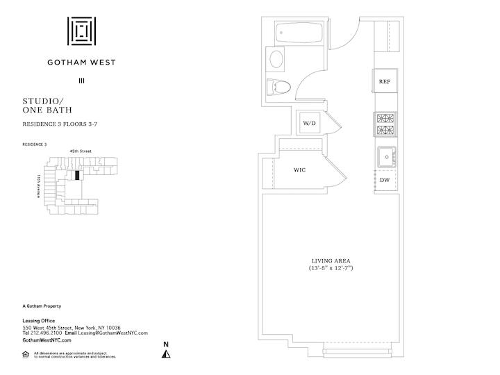 Gotham West #403 Floorplan