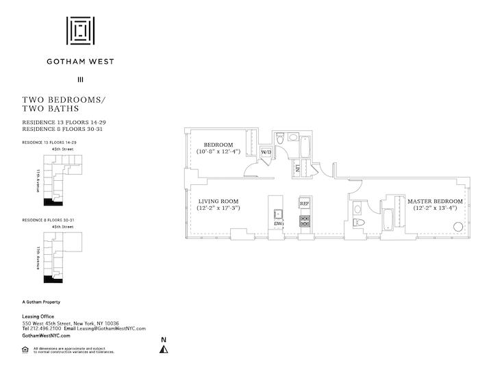 Gotham West #3008 Floorplan
