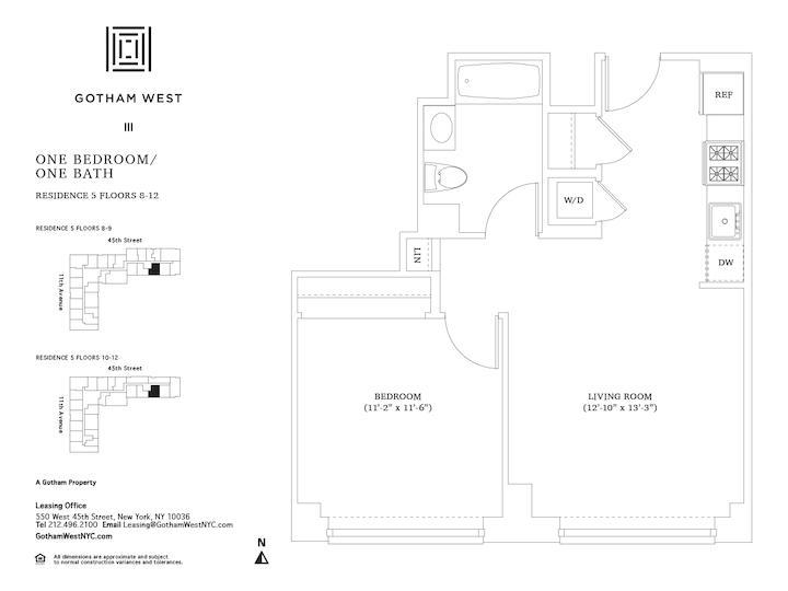 Gotham West #905 Floorplan