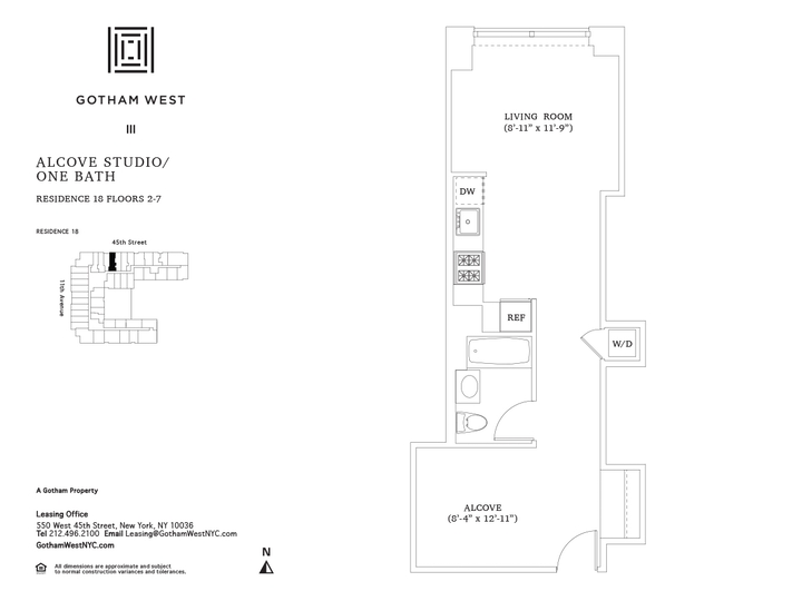 Gotham West #318 Floorplan