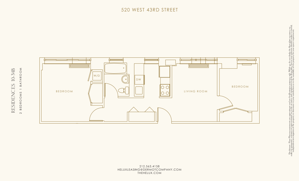 Floor plan for 29B