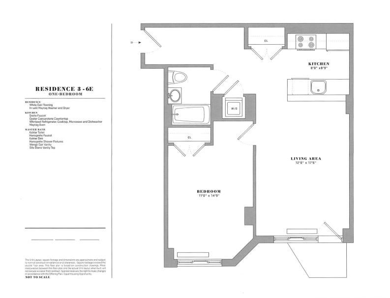 Floor plan for 3E