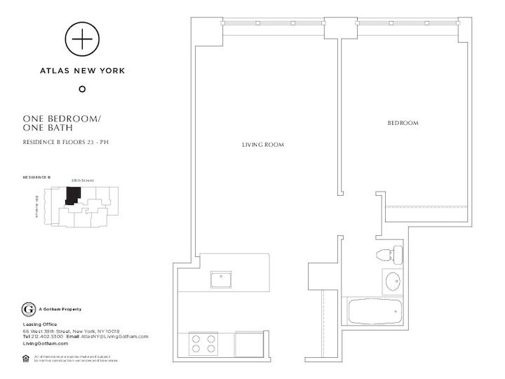Atlas New York #41B Floorplan