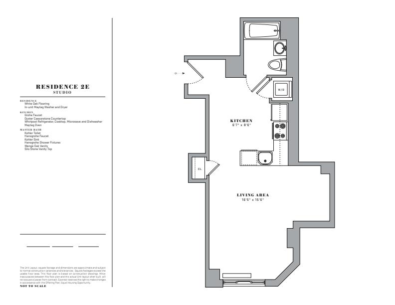 Floor plan for 2E
