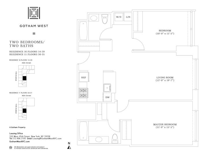Gotham West #1916 Floorplan
