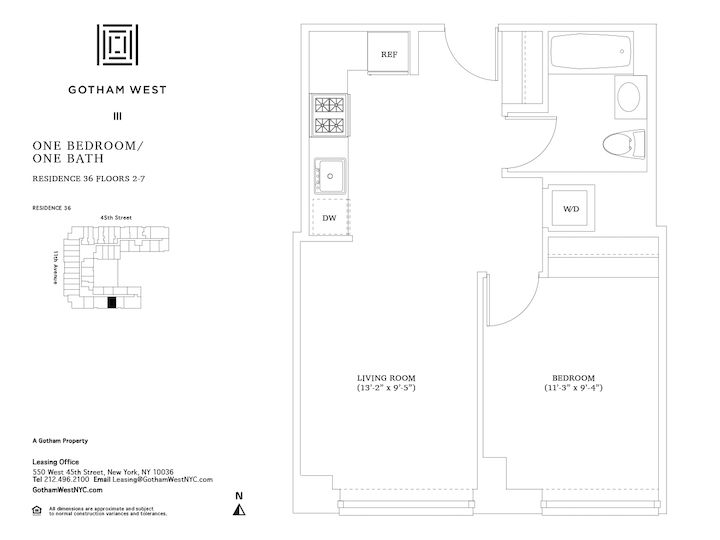 Gotham West #736 Floorplan