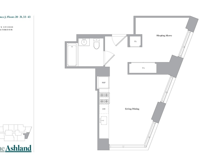 The Ashland #34J Floorplan