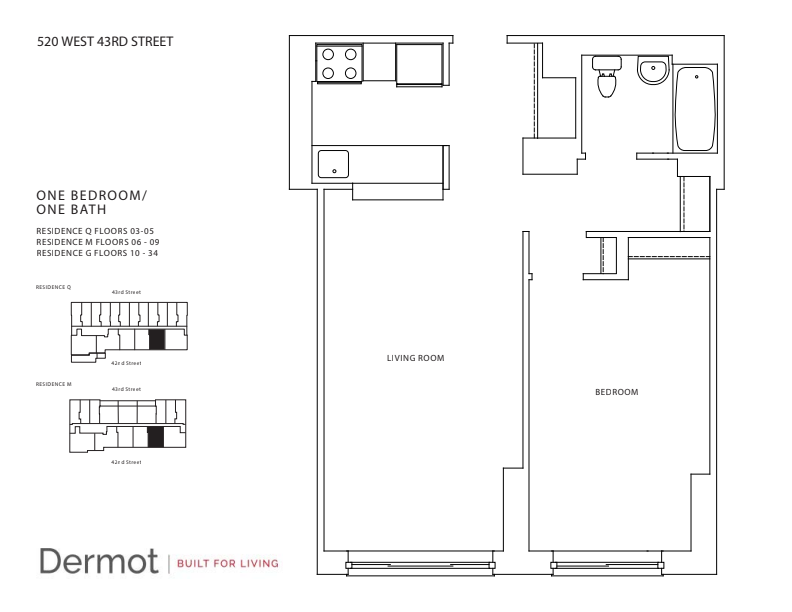 Floor plan for 31G