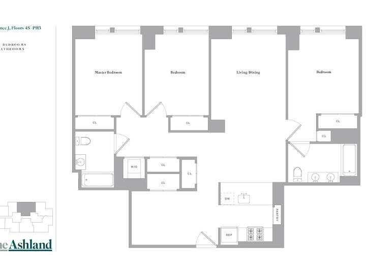The Ashland #PH3J Floorplan