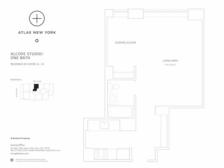 Atlas New York #18B Floorplan