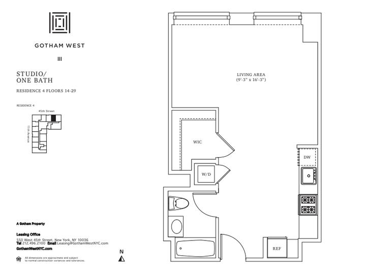 Gotham West #2704 Floorplan