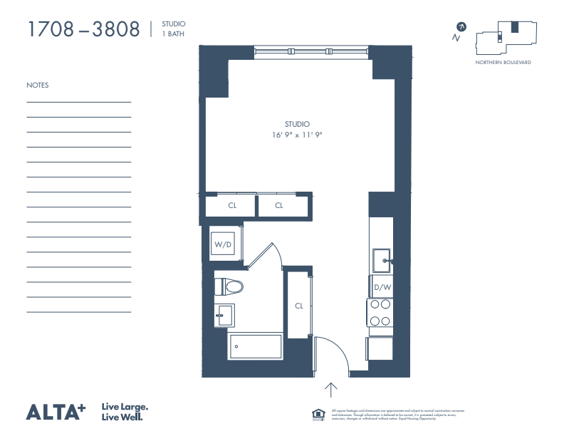 Floorplan of Unit 2508