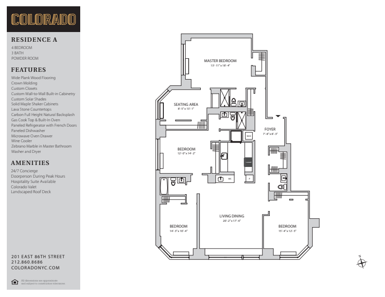 Floor plan for 33-ABC