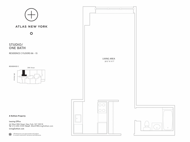 Atlas New York #15C Floorplan