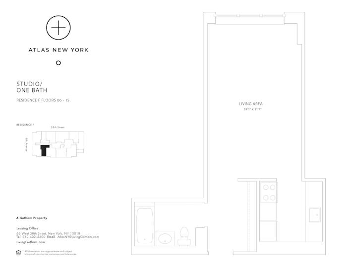 Atlas New York #15F Floorplan