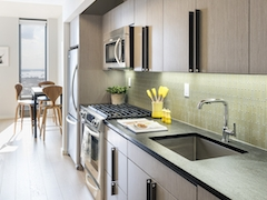 Thumbnail of The Ashland: 33G a modern kitchen with stainless steel appliances