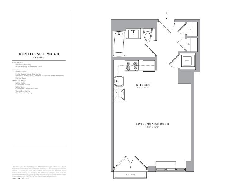 Floor plan for 5B