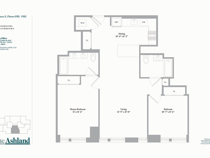 The Ashland #PH2E Floorplan