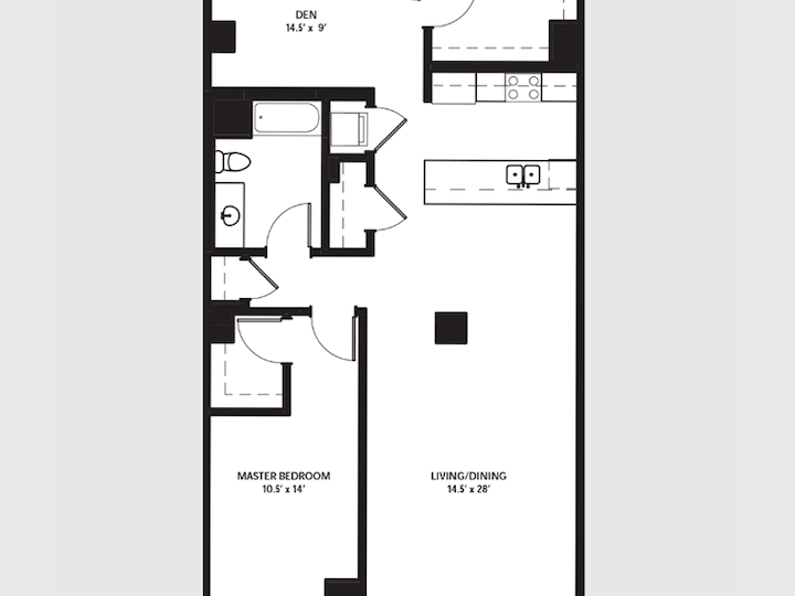850 North Lake Shore Drive 1503, CHICAGO, Illinois, 60611, 1 Bedroom Bedrooms, 1 Room Rooms,1 BathroomBathrooms,Apartment,For Rent,3109980
