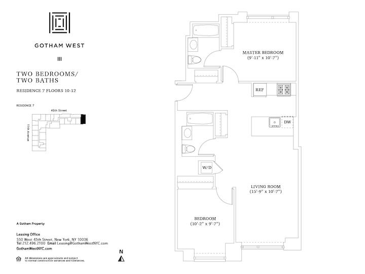 Gotham West #1207 Floorplan