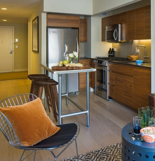Gotham West: 239 a kitchen with a dining room table