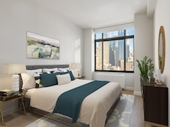 Thumbnail of Atlas New York: 15E a bedroom with a large bed in a room