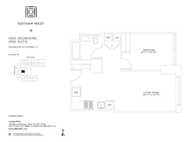 Gotham West #445 Floorplan