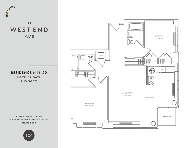 Floor plan for 17N