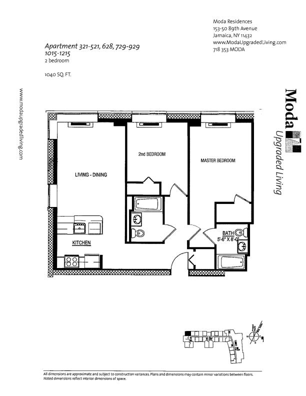 Floor plan for 1015