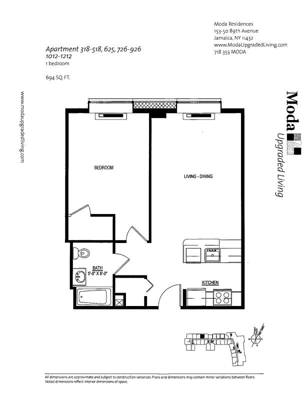 Floor plan for 1112