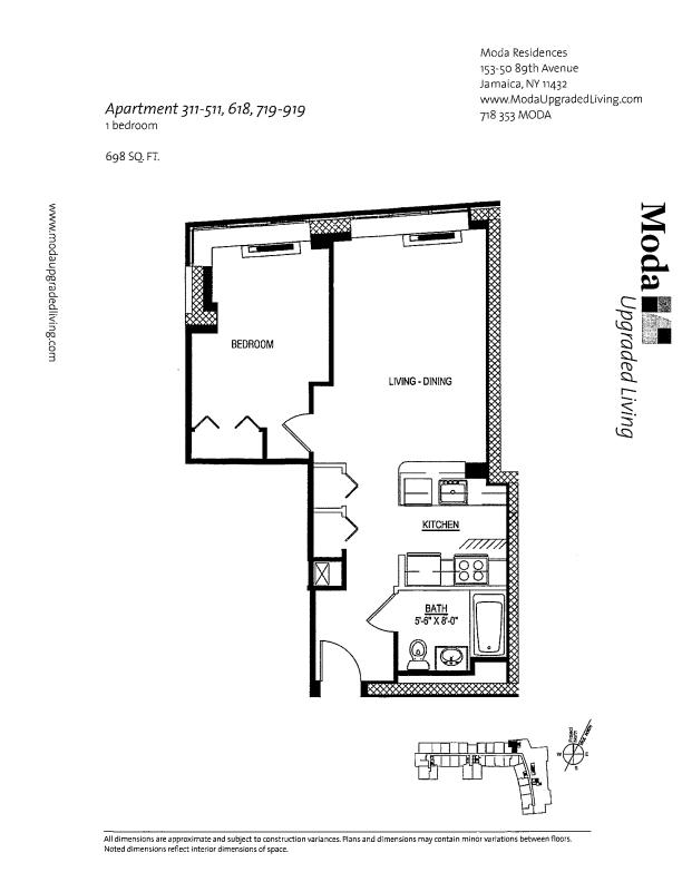 Floor plan for 618