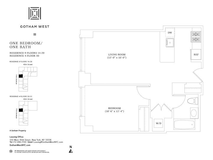 Gotham West #1409 Floorplan