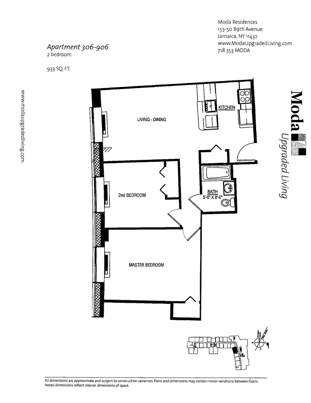 Floor plan for 306