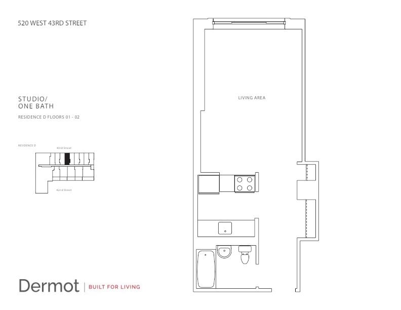 Floor plan for 1D