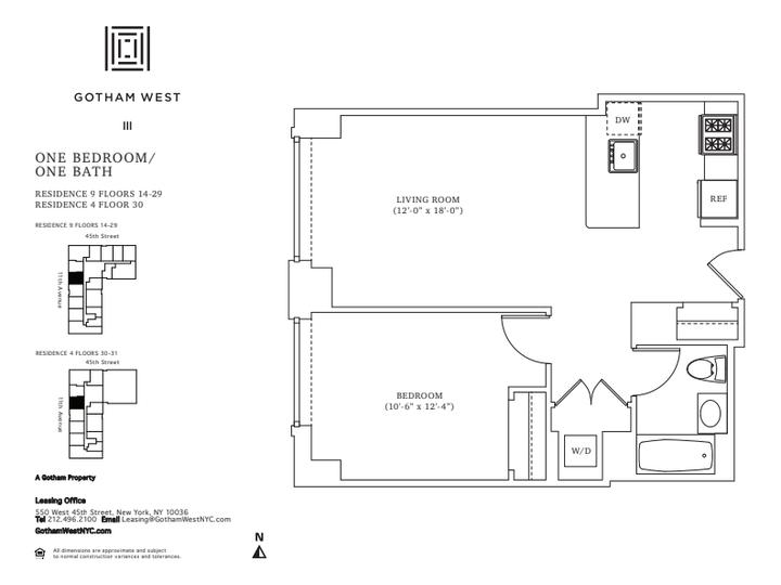 Gotham West #1709 Floorplan