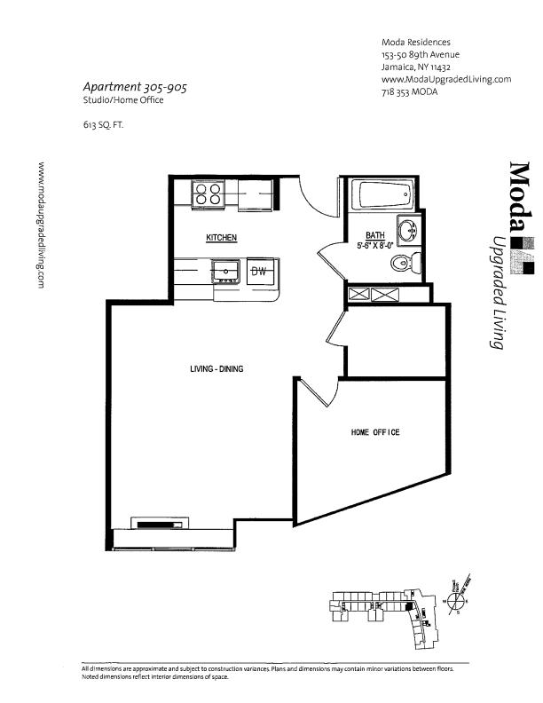 Floor plan for 905