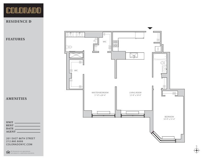 Floor plan for 25-D