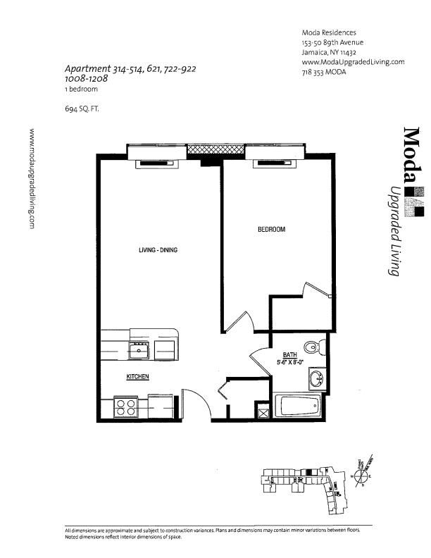 Floor plan for 722